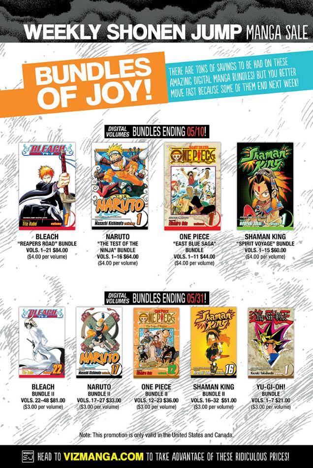 Shaman King manga bundles